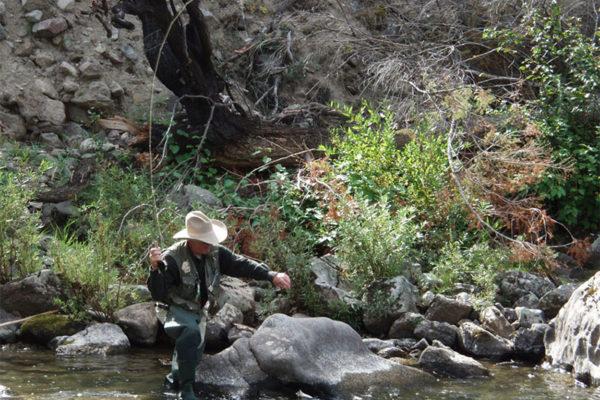 Fishing on Warren Creek.