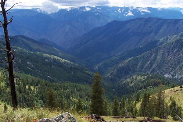 High mountain views.