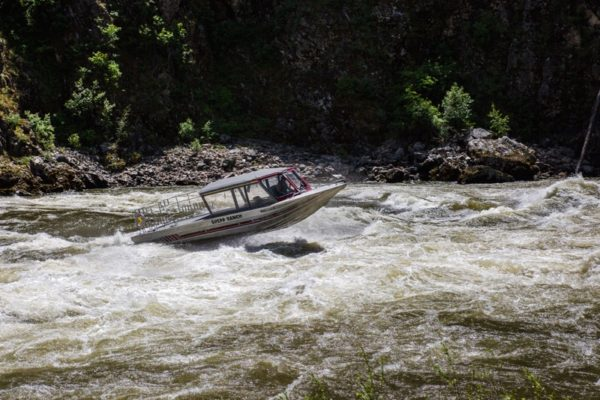 Jetboating on the Salmon River.