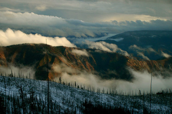 Breath-taking views from the Idaho wilderness.