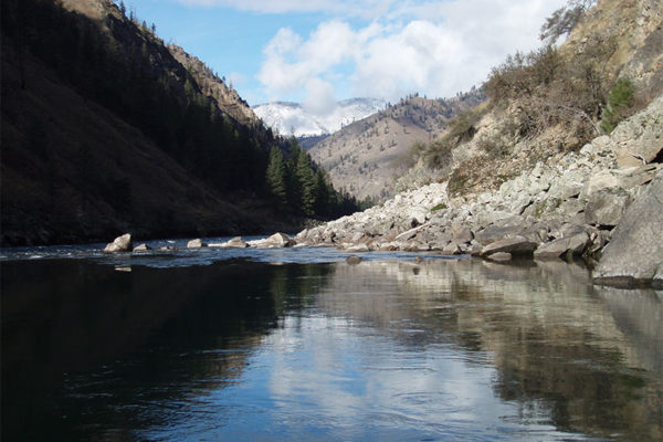 Late fall on the Salmon River.