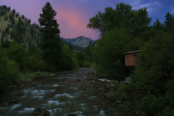 Sunset over Crooked Creek.